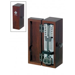 Wittner Taktell Super Mini metronome, wooden casing, without bell, mat, mahogany-coloured