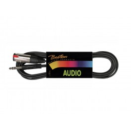 audio cable, black, jack stereo - jack female stereo, 3.00 meter
