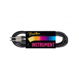 instrument cable, black, 2 x stereo jack, 1 meter