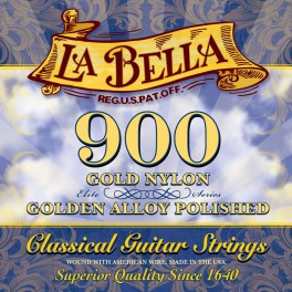 LaBella Golden Superior string set classic, gold nylon trebles & gold polished basses