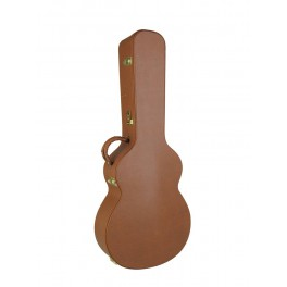 Nashville Series case for jumbo-model acoustic guitar, deluxe, brown tolex exterior, pink plush interior