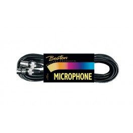 microphone cable, black, 1 x xlr female +1 x xlr male (pro), 1 meter