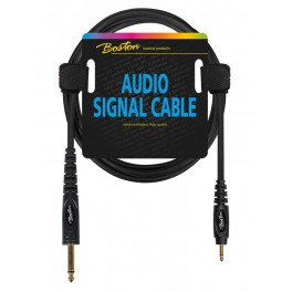 audio signal cable, 3.5mm jack mono to 6.3mm jack mono, 1.50 meter