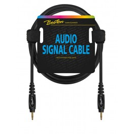 audio signal cable, 3.5mm jack mono to 3.5mm jack mono, 0.75 meter