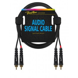 audio signal cable, 2x RCA to 2x RCA, 1.50 meter