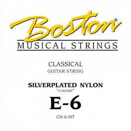 Concert Series E-6 string for classic guitar, silverplated wound nylon, hard tension