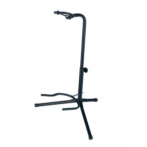 universal guitar stand, fork model, metal, black, with fixed neck support