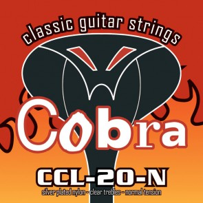 Cobra string set classic, normal tension clear nylon trebles & silverplated basses
