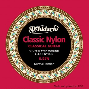 D'Addario Classics string set classic, clear nylon trebles and silverplated basses, normal tension