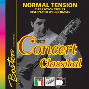 Concert Series string set classic, clear trebles & silverplated wound basses, normal tension