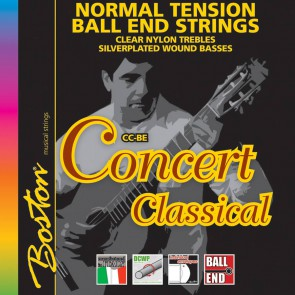 Concert Series string set classic, clear trebles & silverplated wound basses, normal tension, with ball ends
