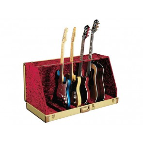 Fender guitar case stand, holds 7 guitars, tweed