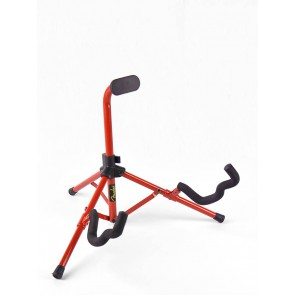 Fender guitar stand 'Tubular Mini', for electric + bass + semi acoustic guitar, red