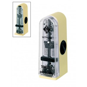 Wittner Taktell Piccolino metronome plastic casing, without bell, ivory