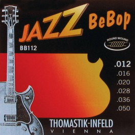 Thomastik Jazz Bebop snarenset elektrisch, nickel roundwound, 012-016-020-028-036-050