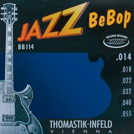 Thomastik Jazz Bebop snarenset elektrisch, nickel roundwound, 014-018-022-032-040-055