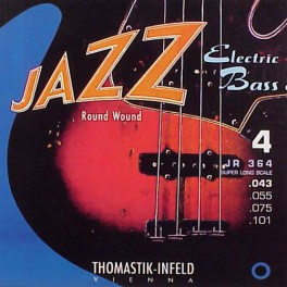 Thomastik Jazz snarenset basgitaar, nickel roundwound, 043-055-075-101, super longscale