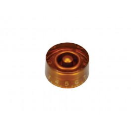 Speed knob (hatbox), transparent amber