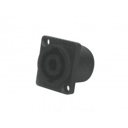 Speaker chassis conn, 4-polig, male, rechthoekig model, 25 x 30mm