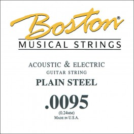 Boston .0095 snaar, plain steel