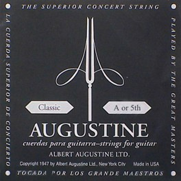 Augustine Black Label A-5 snaar voor klassieke gitaar, silverplated wound nylon, medium hard tension