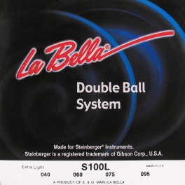 LaBella Double Ball End System snarenset basgitaar, voor Steinberger , double ball end, extra light, 040-060-075-095
