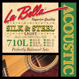 LaBella Silk & Steel snarenset akoestisch, light, 011-014-023-031-041-051