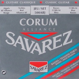 Savarez Alliance Corum snarenset klassiek, KF composite fiber, silverwound Corum basses, hybrid tension