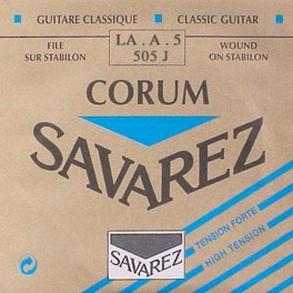 Savarez A-5-snaar, silverplated wound Corum, sluit aan bij 500-CRJ and 500-ARJ set, hard tension