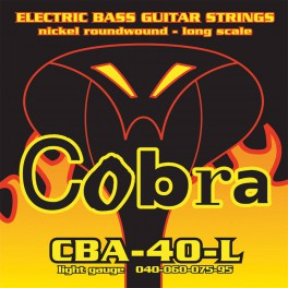 Cobra snarenset basgitaar, nickelplated, longscale, light: .040-.060-.075-.095