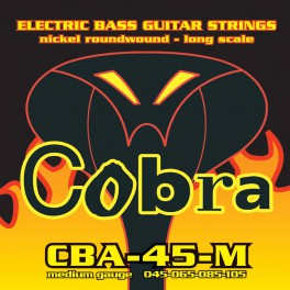 Cobra snarenset basgitaar, nickelplated, longscale, medium: .045-.065-.085-.105