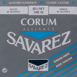 Savarez Alliance Corum snarenset klassiek, KF composite fiber, silverwound Corum basses, hard tension