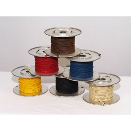 Vintage Solid Cloth Wire 22AWG, brown
