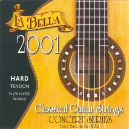 LaBella 2001 Series snarenset klassiek, professional, hard tension, clear nylon trebles, silverplated basses