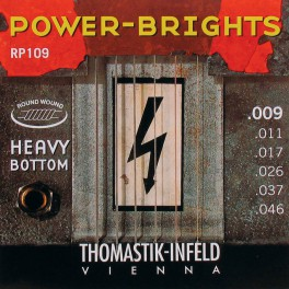 Thomastik Power Brights snarenset elektrisch, magnecore, 009-011-017-026-037-046