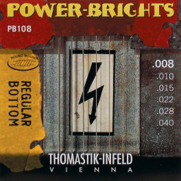 Thomastik Power Brights snarenset elektrisch, magnecore, 008-010-015-022-028-040