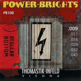 Thomastik Power Brights snarenset elektrisch, magnecore, 009-011-016-024-032-042