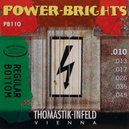 Thomastik Power Brights snarenset elektrisch, magnecore, 010-013-017-026-035-045