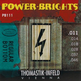 Thomastik Power Brights snarenset elektrisch, magnecore, 011-014-018-028-037-046