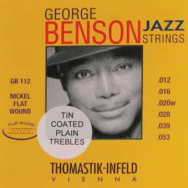 Thomastik George Benson Signature snarenset elektrisch, nickel flatwound, 012-016-020-028-039-053, tinplated trebles