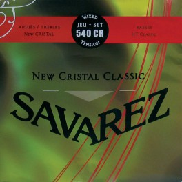 Savarez New Cristal Classic snarenset klassiek, New Cristal trebles, silverwound HT classic basses, normal tension
