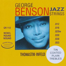 Thomastik George Benson Signature snarenset elektrisch, nickel roundwound, 012-016-020-030-038-053, tinplated trebles