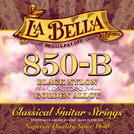 LaBella Concert snarenset klassiek, black nylon trebles, gold basses, 028-032-040-029-034-041