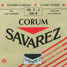 Savarez E-6-snaar, silverplated wound Corum, sluit aan bij 500-CR and 500-AR set, normal tension