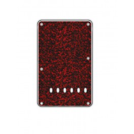 Back plate, string spacing 11,2mm, tiger red, 3 ply, standard Strat, 86x138mm