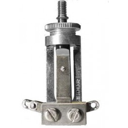 Switchcraft toggle switch 3-way, long model, nickel, no cap, for USA made LP-model guitars