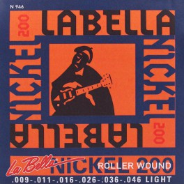 LaBella Nickel 200 snarenset elektrisch, rollerwound, hybrid light, 009-011-016-026-036-046