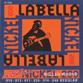 LaBella Nickel 200 snarenset elektrisch, rollerwound, light, 010-013-017-026-036-046