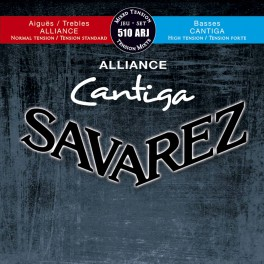Savarez Alliance Cantiga snarenset klassiek, KF composite fiber, Cantiga basses, hybrid tension
