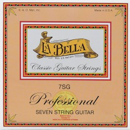 LaBella Multi-String Guitars snarenset  klassiek 7-snarig, clear nylon trebles & silverplated basses